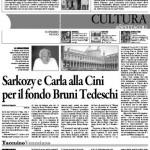 Sarkozy e Carla alla Cini per il fondo Bruni Tedeschi